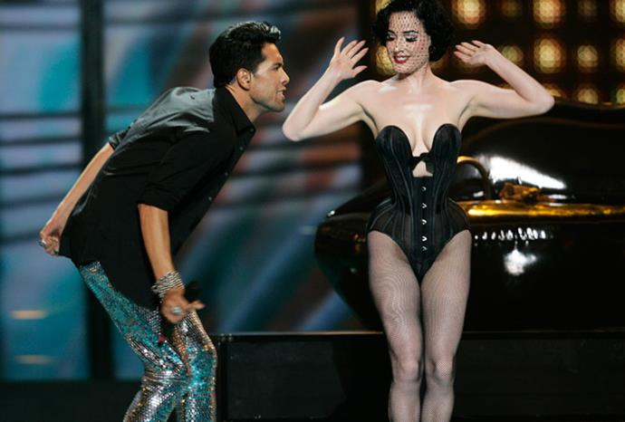 Dita Von Teese wasn't an official entrant but performed alongside Germany's 2009 act.