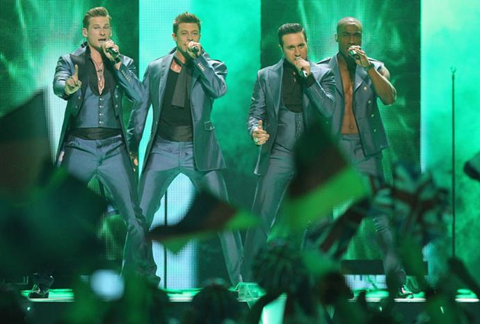Boy band Blue attempted a Bonnie-esque comeback in Eurovision 2011.