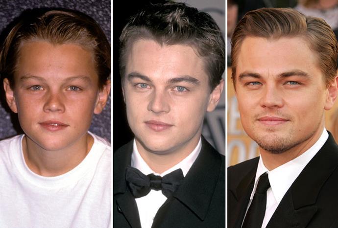 Leonardo DiCaprio over the years.