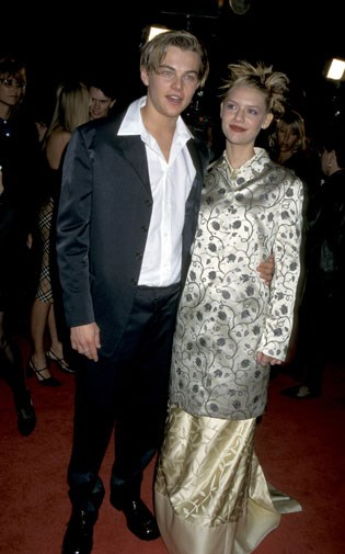 With Claire Danes at the premiere of Romeo and Juliet in 1996.