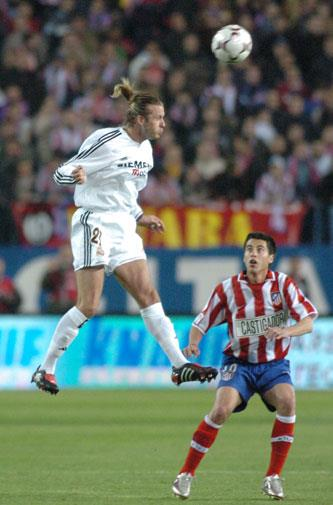Playing for Real Madrid in 2004.