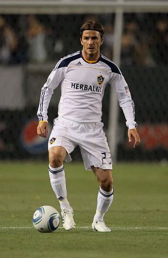 Playing for the LA Galaxy in 2011.