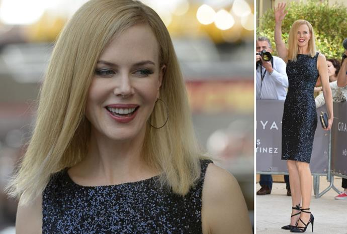 Nicole Kidman arrives at a Cannes Film Festival jury photo call.
