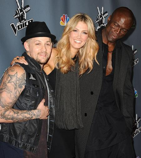 Delta with *Voice Australia* judges Joel Madden and Seal.