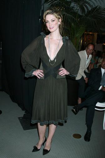 Vampish in black in New York in 2005.