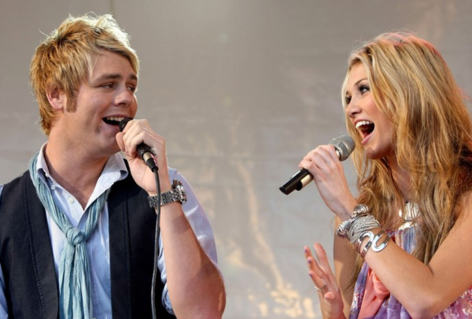 Delta and Brian singing a duet in Melbourne in 2007.