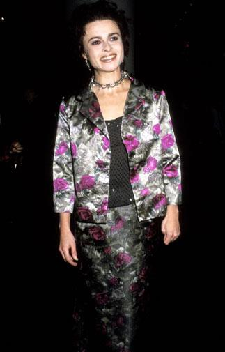 Matching florals at a premiere in New York 1998.