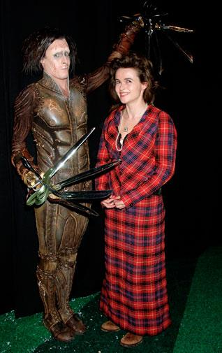 Showing a taste for tartan at the Edward Scissorhands premiere 2005.