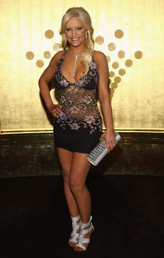 At the 2010 Brownlow Medal, after detaching her tulle skirt.