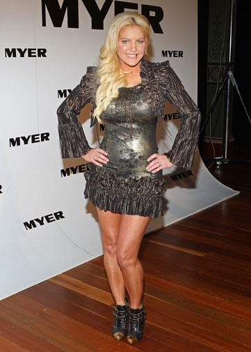 Brynne at the Myer fashion show in March 2011.