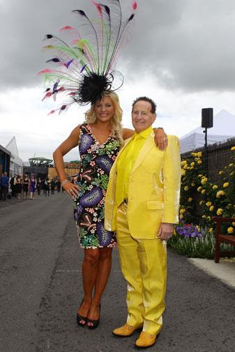 Brynne and Geoffrey at the Melbourne Cup in 2010.