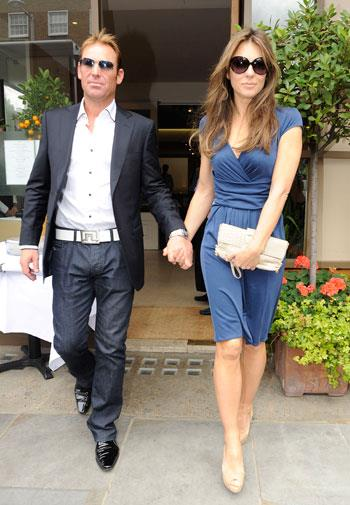 Warnie and Liz do lunch in London in June, 2011.