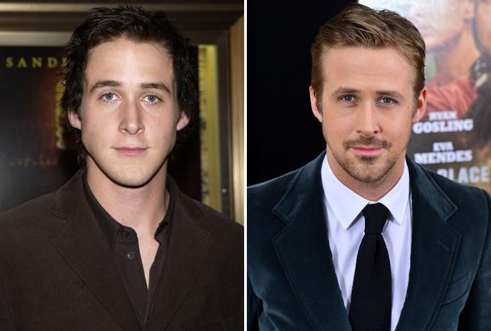 Ryan Gosling in 2002 and 2013.