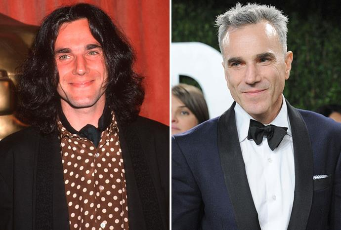 Daniel Day-Lewis in 1990 and 2013.