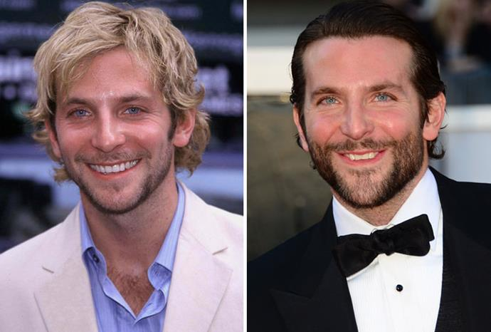 Bradley Cooper in 2001 and 2013.