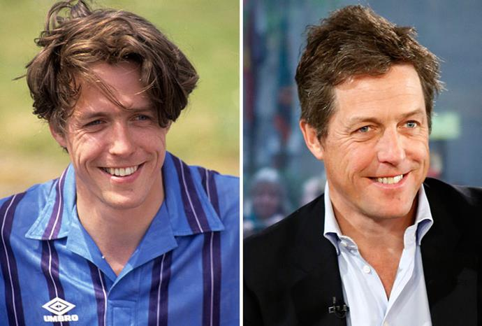Hugh Grant in 1994 and 2012.