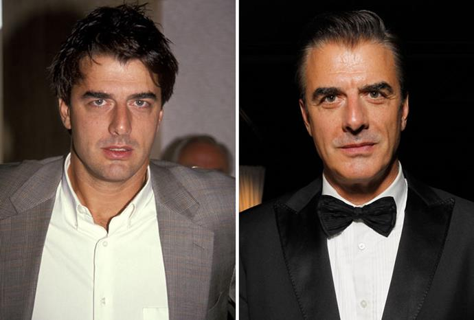Chris Noth in 1991 and 2011.