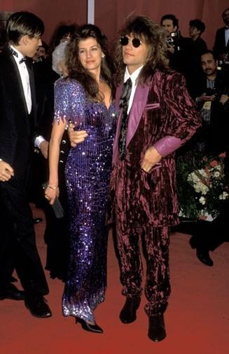 Jon Bon Jovi in crushed velvet in 1991.