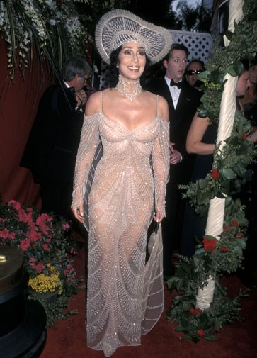 Cher at the Oscars in 1998.