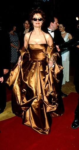Susan Sarandon in dazzling bronze in 1996.