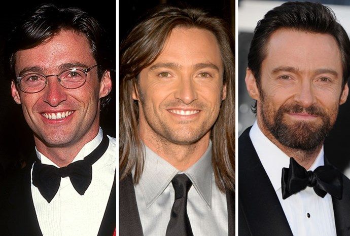 Hugh Jackman in 1997, 2003 and 2013.