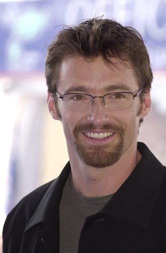 Hugh wearing his specs in 2001.