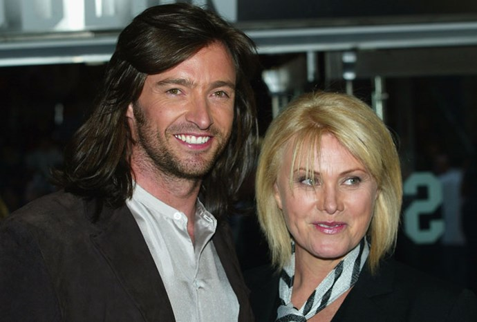 Hugh, his flowing locks, and Deborra-Lee in 2003.