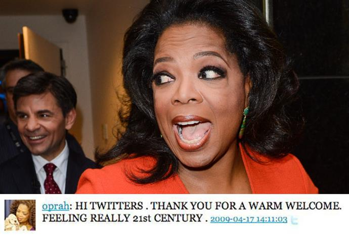 When Oprah announced her arrival on Twitter (via her TV show) traffic increased by 43%.