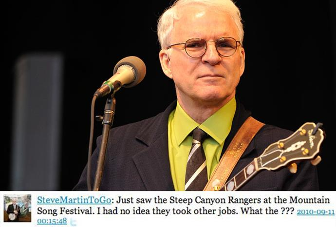 Actor and Banjo enthusiast Steve Martin is another favourite of the twitterverse.