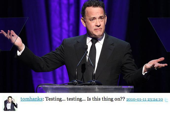 Joker Tom Hanks couldn't help himself with this opening line.