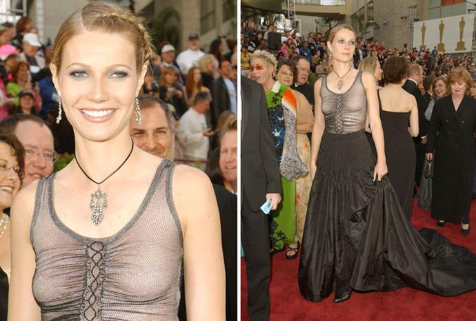 """Gwyneth Paltrow - """"I should have worn a bra."""""""