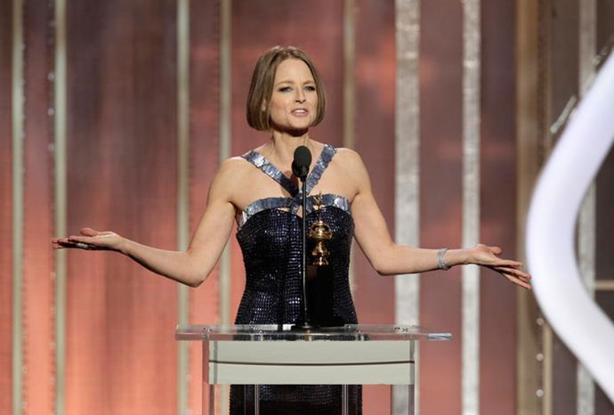Jodie Foster came out in an emotional speech at the 2013 Golden Globes.
