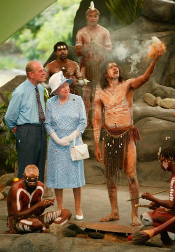2002, to Australian Aborigines: 'Do you still throw spears at each other?'