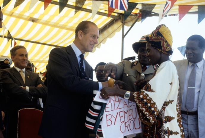 1984, when accepting a gift from a woman in Kenya: 'You are a woman aren't you?'