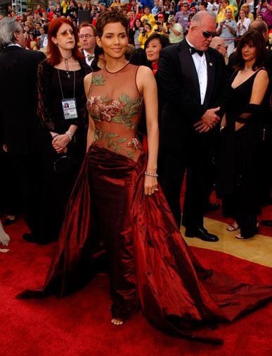 Halle Berry in Elie Saab in 2002.