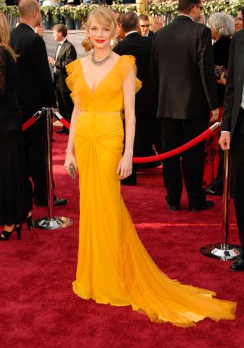 Michelle Williams in Vera Wang in 2006.