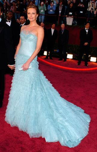 Charlize Theron in Christian Dior in 2005.