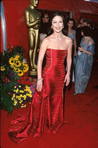 Catherine Zeta-Jones in Versace in 1999.