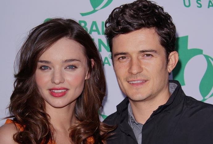 Miranda Kerr and Orlando Bloom have similar facial features.