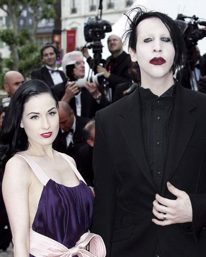 Marilyn Manson and Dita Von Teese were clearly into the same look.