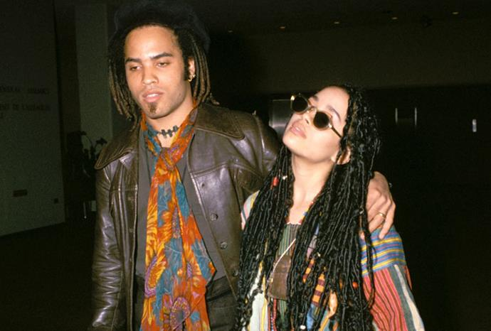 Lenny Kravitz and his wife Lisa Bonet have similar style.