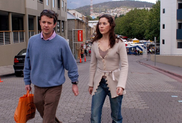 Mary and Frederik shopping in Hobart in 2001.