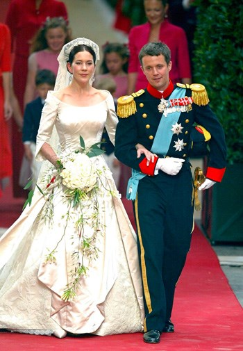 Mary and Frederik at their wedding in May 2004.