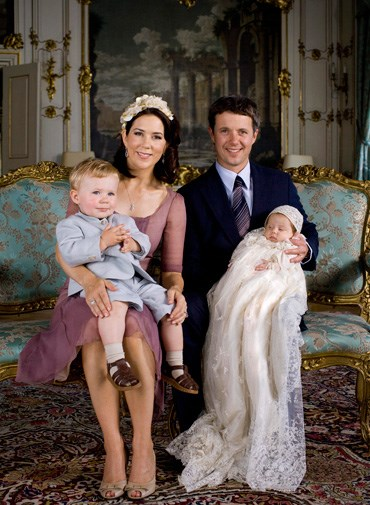 A family portrait from Isabella's christening in July 2007.