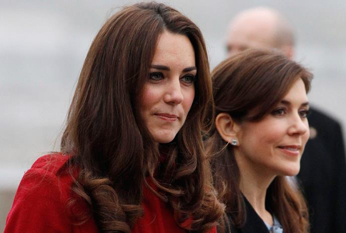 Mary with Kate Middleton in November 2011.