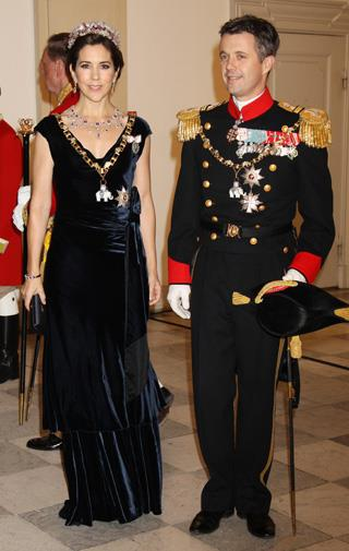 The couple celebrating Queen Margrethe's 40th year on the throne.