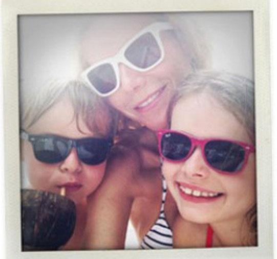 Gwyneth Paltrow with kids Apple and Moses.
