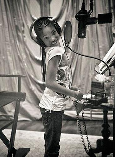 Will Smith shared this picture of his daughter Willow in the studio.