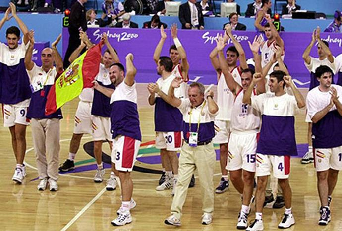 Ten of the 12 members of the Spanish Paralympic basketball team had no disabilities.