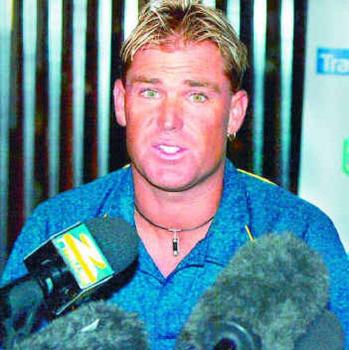 Shane Warne tested positive to a diuretic in 2003, but said he was taking it for weight loss.